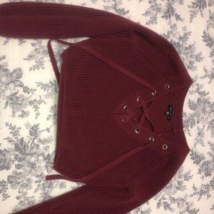 Kendall & Kylie Maroon Sweater
